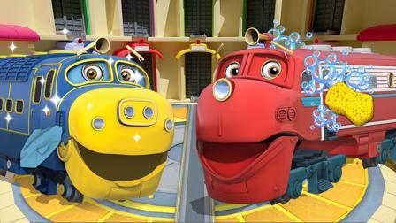 Chuggington - Die Loks sind los! Spiel Zugwerkstatt in Chuggington - Waschen und reparieren