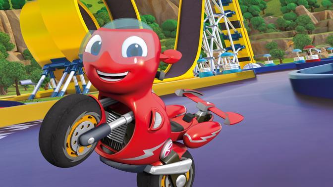Ricky Zoom Spiel Motorrad-Rennen mit Ricky