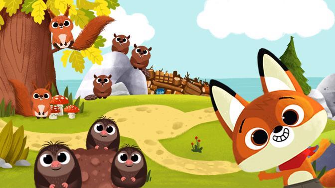 WoodieHoo Spiel Tiere retten mit Freddy