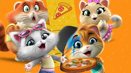 44 Cats Spiel Pizza backen mit den Buffycats