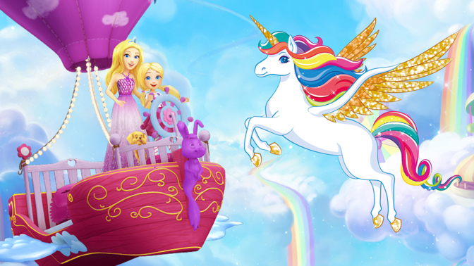 Barbie Spiel Das fliegende Einhorn und die verlorenen Farben